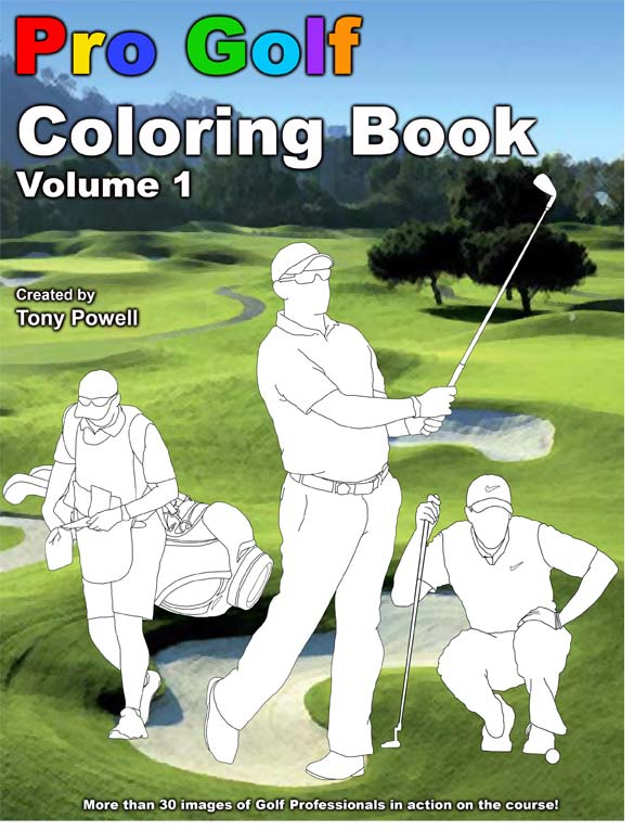 Pro Golf Coloring Book by Tony Powell