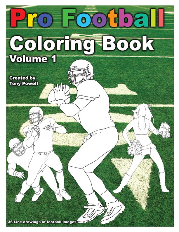 Pro Football Coloring Book by Tony Powell